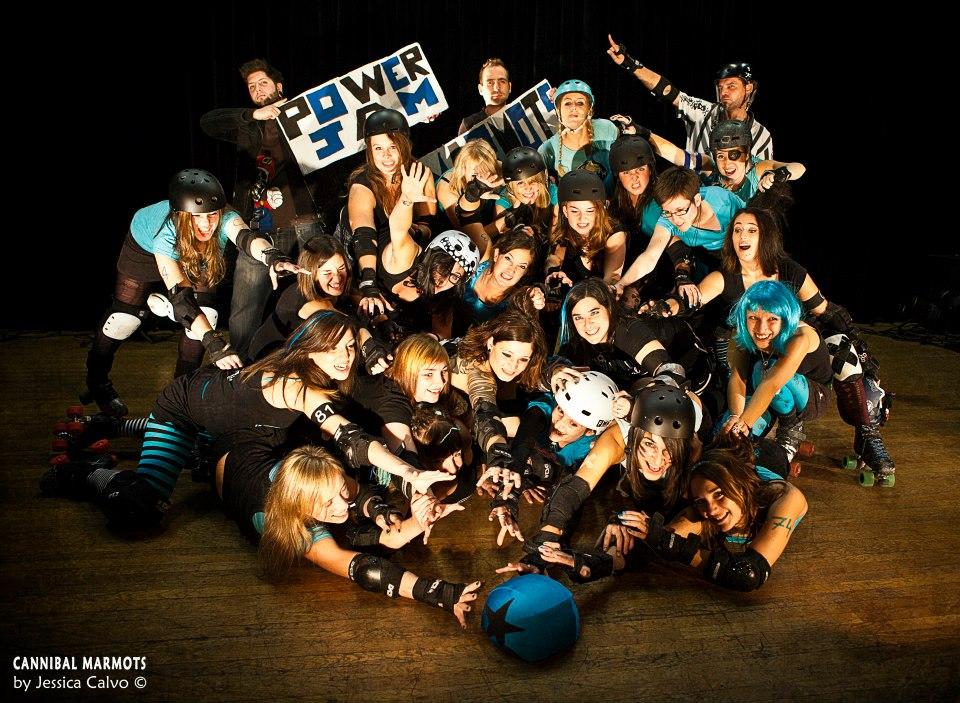 photo équipe roller derby